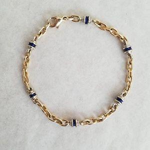 Jewelry - 14K Gold & Enamel Bracelet